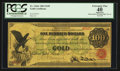 Large Size:Gold Certificates, Fr. 1166c $100 1863 Gold Certificate PCGS Apparent Extremely Fine40.. ...