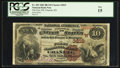 National Bank Notes:Kansas, Chanute, KS - $10 1882 Brown Back Fr. 483 The First NB Ch. # (W)3819. ...