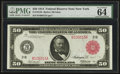 Large Size:Federal Reserve Notes, Fr. 1013b $50 1914 Red Seal Federal Reserve Note PMG Choice Uncirculated 64 EPQ.. ...