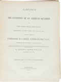 Books:Travels & Voyages, [Commodore M[atthew] C[albraith]Perry]. Francis L. Hawks. Narrative of the Expedition of an American Squadron to the Chi... (Total: 3 Items)