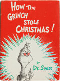 Books:Children's Books, Dr. Seuss. How the Grinch Stole Christmas. New York: [1957].First edition, first issue dust jacket....