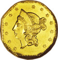 California Fractional Gold: , 1853 $1 Liberty Octagonal 1 Dollar, BG-530, R.2, MS64 NGC. Thiswell produced example displays bright, reflective fields an...