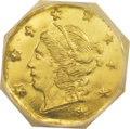 California Fractional Gold: , 1866 25C Liberty Octagonal 25 Cents, BG-708, High R.4, MS66Prooflike NGC. This flashy and smooth yellow-gold Premium Gem d...