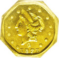 California Fractional Gold: , 1871 50C Liberty Octagonal 50 Cents, BG-924, R.3, MS64 Deep MirrorProoflike NGC. Intense and flashy with a degree of black...