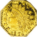 California Fractional Gold: , 1874 25C Indian Octagonal 25 Cents, BG-799Q, High R.5, MS67 DeepMirror Prooflike NGC. A rare variety that offers a widely ...