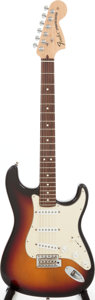 Musical Instruments:Acoustic Guitars, 2006 Fender Highway 1 Stratocaster Sunburst Solid Body ElectricGuitar, Serial # Z6168230....