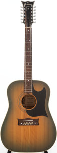 Musical Instruments:Acoustic Guitars, Circa 1970 Grammer R-20-C Greenburst 12-String Acoustic Guitar, Serial # 1064. ...