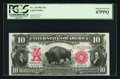 Large Size:Legal Tender Notes, Fr. 119 $10 1901 Legal Tender PCGS Superb Gem New 67PPQ.. ...