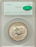 Franklin Half Dollars: , 1948 50C MS65 PCGS. CAC. PCGS Population (312/11). NGC Census:(443/42). Mintage: 3,006,814. Numismedia Wsl. Price for prob...
