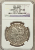 Morgan Dollars, 1882-CC $1 -- Improperly Cleaned -- NGC Details. VF. NGC Census: (10/13983). PCGS Population (30/27274). Mintage: 1,133...