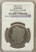 Morgan Dollars, 1889-CC $1 -- Improperly Cleaned -- NGC Details. AG. NGC Census:(0/3538). PCGS Population (78/5405). Mintage: 350,000....