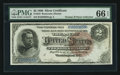Large Size:Silver Certificates, Fr. 244 $2 1886 Silver Certificate PMG Gem Uncirculated 66 EPQ.....