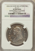 Bust Half Dollars, 1834 50C Small Date, Small Letters -- Improperly Cleaned -- NGCDetails. XF. O-111. PCGS Population (102...