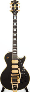 Musical Instruments:Electric Guitars, 2005 Gibson '57 Les Paul Custom Black Beauty Re-Issue Black SolidBody Electric Guitar, Serial # 7 5211....