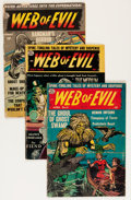 Golden Age (1938-1955):Horror, Web of Evil/Web of Mystery Group (Quality, 1951-54) Condition:Average GD.... (Total: 11 Comic Books)