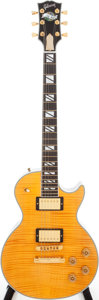 Musical Instruments:Electric Guitars, 2005 Gibson Les Paul Supreme Amber Solid Body Electric Guitar,Serial # 01725432....