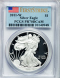 Modern Bullion Coins, 2011-W $1 Silver Eagle, First Strike PR70 Deep Cameo PCGS. PCGSPopulation (4401). NGC Census: (14950). ...