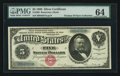 Large Size:Silver Certificates, Fr. 260 $5 1886 Silver Certificate PMG Choice Uncirculated 64.. ...