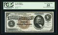 Large Size:Silver Certificates, Fr. 264 $5 1886 Silver Certificate PCGS Apparent Very Choice New64.. ...