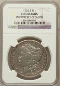 Morgan Dollars, 1903-S $1 -- Improperly Cleaned -- NGC Details. Fine. NGC Census:(78/1544). PCGS Population (119/2243). Mintage: 1,241,000....