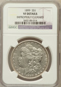 Morgan Dollars, 1899 $1 -- Improperly Cleaned -- NGC Details. VF NGC Census:(7/8290). PCGS Population (23/11024). Mintage: 330,846. Numism...