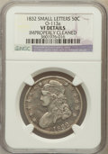 Bust Half Dollars, 1832 50C Small Letters -- Improperly Cleaned -- NGC Details. VF.O-113A. NGC Census: (20/1927). PCGS Population (19/2088). ...