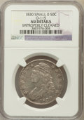 Bust Half Dollars, 1830 50C Small 0 -- Improperly Cleaned -- NGC Details. AU. O-115.NGC Census: (104/1189). PCGS Population (140/899). Mintag...