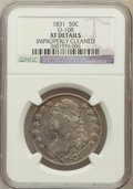 Bust Half Dollars, 1831 50C -- Improperly Cleaned -- NGC Details. XF. O-108. NGCCensus: (79/1336). PCGS Population (138/1431). Mintage: 5,873...