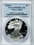 Modern Bullion Coins: , 2000-P $1 Silver Eagle PR70 Deep Cameo PCGS. PCGS Population (531).NGC Census: (1878). Numismedia Wsl. Price for problem ...