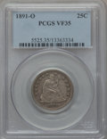 Seated Quarters, 1891-O 25C VF35 PCGS....