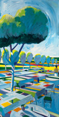 Post-War & Contemporary:Contemporary, ROLAND PETERSEN (American/Danish, b. 1926). California Picnic,Variations on I Ching Series, 1970. Oil on canvas. 73-3/4...