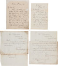 Autographs:Statesmen, [Lincoln Cabinet]. Letters from Members of Lincoln's Cabinet...(Total: 4 Items)
