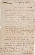 Autographs:Military Figures, William Smallwood Letter Signed....