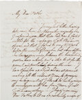 Autographs:Military Figures, [Revolutionary War Prisoner of War Letter]. British Officer Charles Campbell Letter....