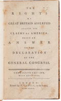 Miscellaneous:Ephemera, [British Imprint]. The Rights of Great Britain Asserted Againstthe Claims of America....