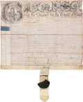 Autographs:Non-American, [George II]. Court Document from the Reign of the English KingGeorge....