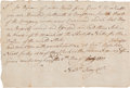 Autographs:Military Figures, [Revolutionary War Orders]. Nathan Terry Autograph DocumentSigned....