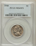 Jefferson Nickels: , 1948 5C MS65 Full Steps PCGS. PCGS Population (63/11). NGC Census:(4/10). Numismedia Wsl. Price for problem free NGC/PCGS...