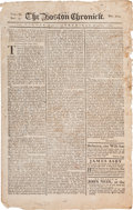 Miscellaneous:Newspaper, [Newspaper]. The Boston Chronicle....