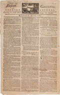 Miscellaneous:Newspaper, [Newspaper]. Boston Gazette and Country Journal....