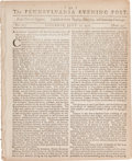 Miscellaneous:Newspaper, [Newspaper]. The Pennsylvania Evening Post....