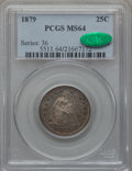 Seated Quarters, 1879 25C MS64 PCGS. CAC....