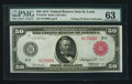 Fr. 1019b $50 1914 Red Seal Federal Reserve Note PMG Choice Uncirculated 63
