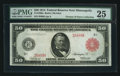 Large Size:Federal Reserve Notes, Fr. 1020a $50 1914 Red Seal Federal Reserve Note PMG Very Fine 25.. ...
