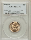 Jefferson Nickels: , 1941-D 5C MS66 Full Steps PCGS. PCGS Population (1075/144). NGCCensus: (127/36). Numismedia Wsl. Price for problem free N...