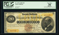 Large Size:Gold Certificates, Fr. 1175a $20 1882 Triple Signature Gold Certificate PCGS Apparent Very Fine 30.. ...