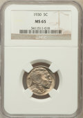 Buffalo Nickels: , 1930 5C MS65 NGC. NGC Census: (409/93). PCGS Population (1050/374).Mintage: 22,849,000. Numismedia Wsl. Price for problem ...