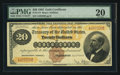 Large Size:Gold Certificates, Fr. 1174 $20 1882 Gold Certificate PMG Very Fine 20.. ...