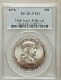 Franklin Half Dollars, 1958 50C MS66 PCGS. Ex: Teich Family Collection. PCGS Population(1502/35). NGC Census: (939/29). Mintage: 4,000,000. Numis...