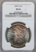Morgan Dollars: , 1899-O $1 MS65 NGC. NGC Census: (7418/1180). PCGS Population(7219/1292). Mintage: 12,290,000. Numismedia Wsl. Price for pr...